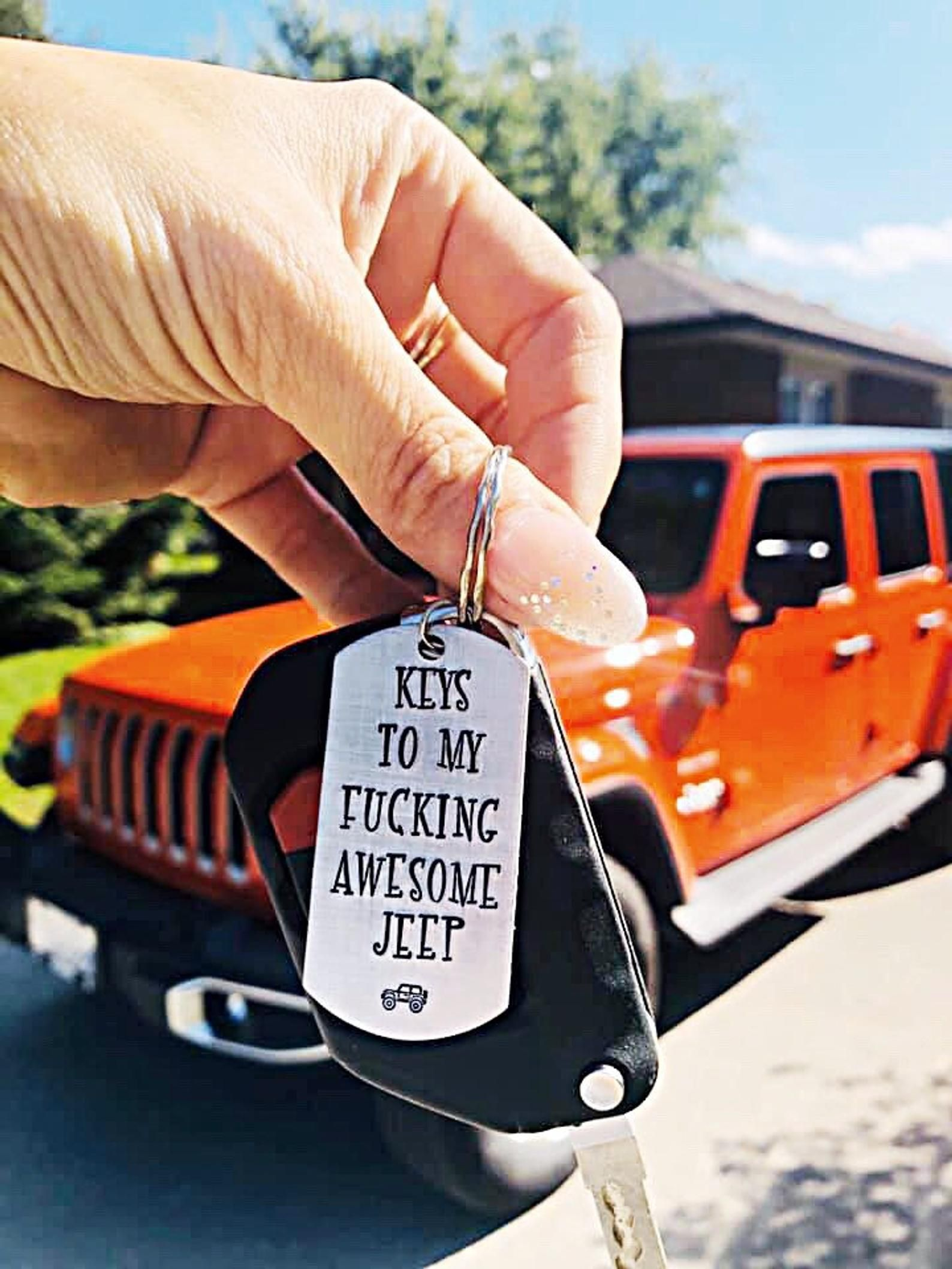 Jeep Keychain Jeep Accessories Jeep Gifts For Her Jeep Wrangler