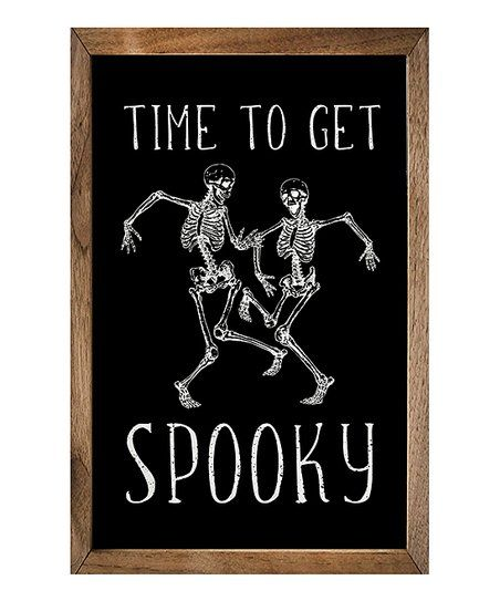 Kendrick Home Time To Get Spooky Framed Wall Art Zulily