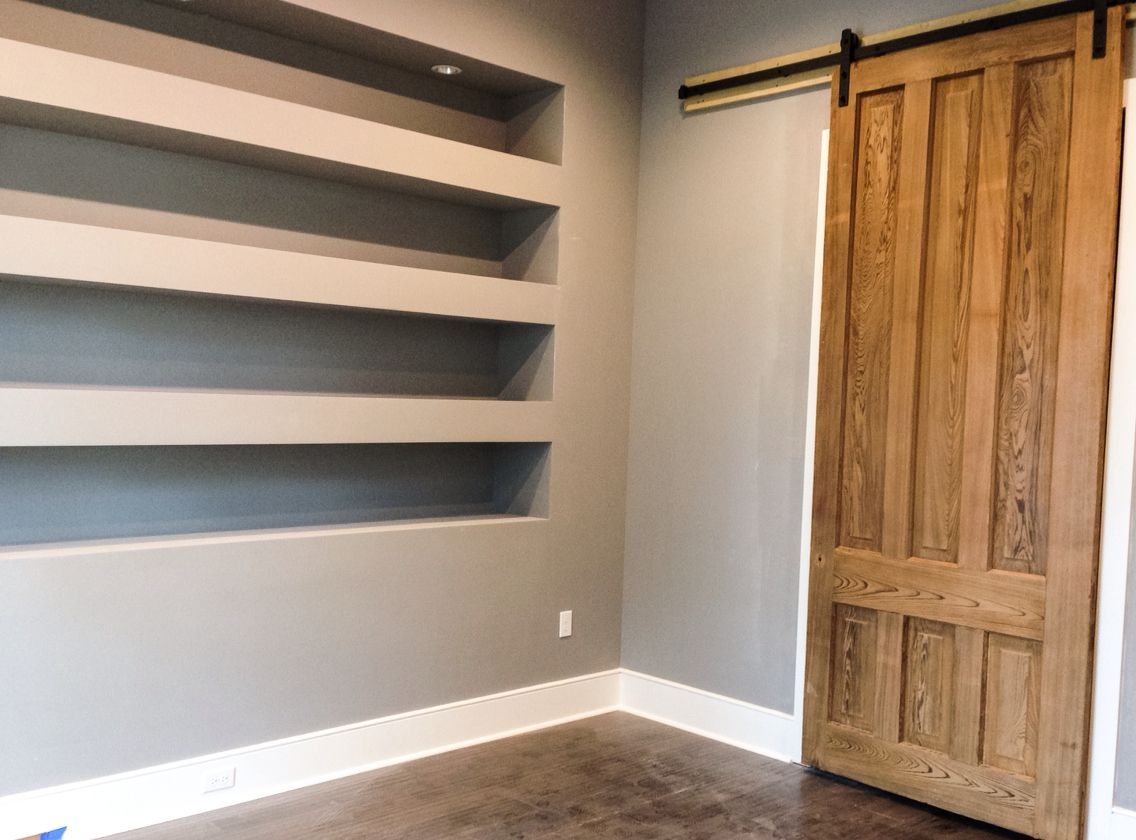 doors for office. Sheetrock Shelves For Office. Reclaimed Wood Door Barn Door. Doors Office