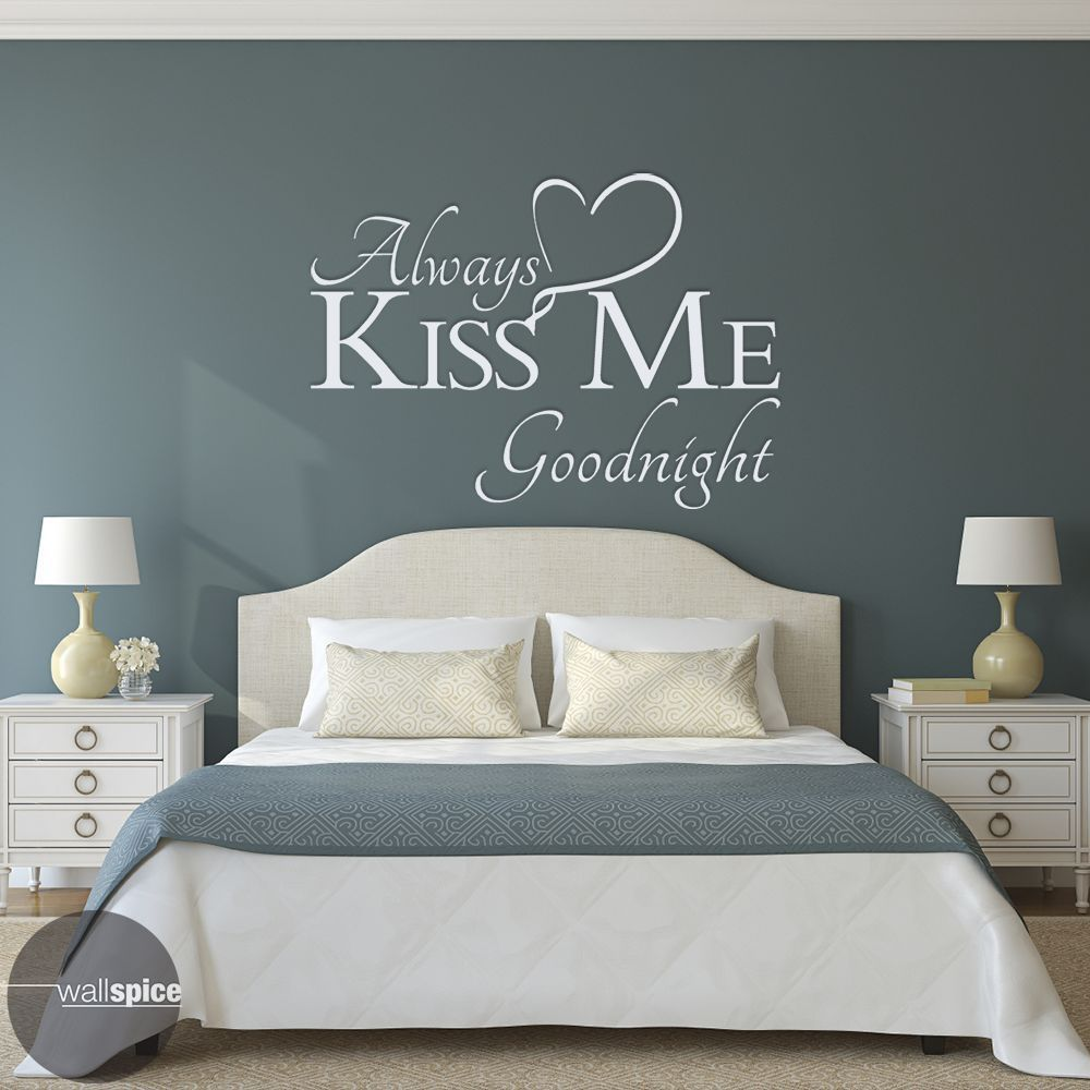 Always Kiss Me Goodnight Vinyl Wall Decal Sticker Products