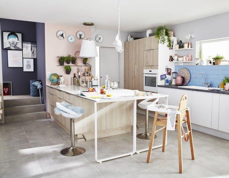 Une cuisine familiale au style scandinave MATISSE Pinterest - Leroy Merlin Renovation Cuisine