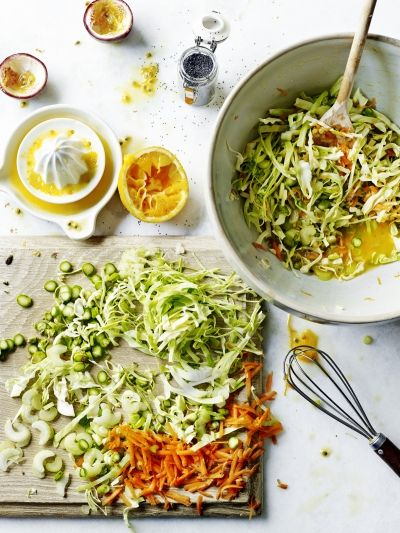 Sweetheart slaw with passion fruit dressing recipe jamie sweetheart cabbage slaw vegetables recipes jamie oliver forumfinder Images