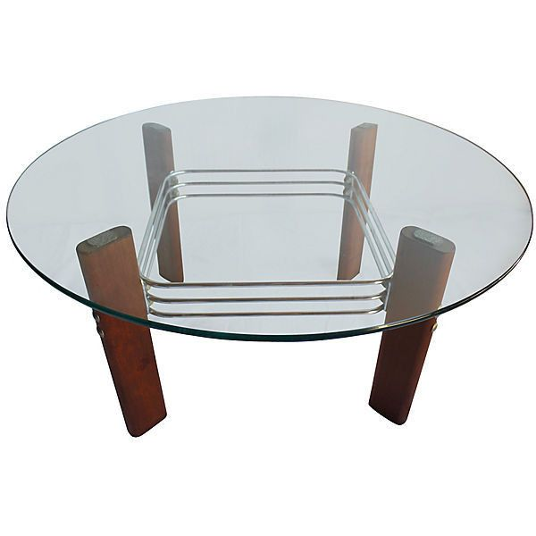 pre-owned bauhaus chrome coffee table ($875) ❤ liked on polyvore