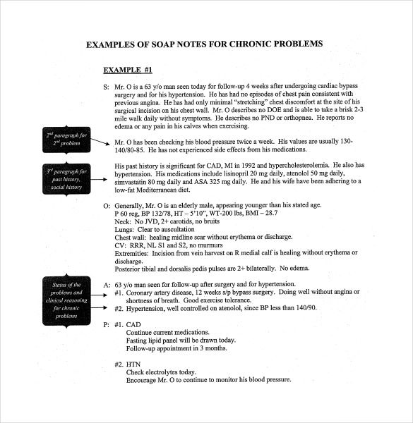 Soap Note Template - 9+ Free Word, PDF Format Download