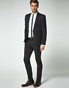 ASOS - Skinny Fit Black Suit Jacket   My Style   Suits, Mens suits ... 53cdc044ed