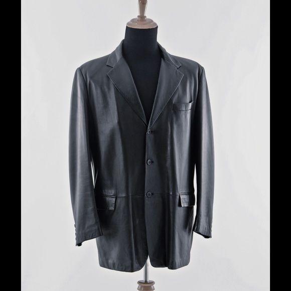 525f5795eb1b Gianni Versace - Men s Lamb skin leather blazer Lambskin leather blazer  authentic Gianni Versace - Three Button Front