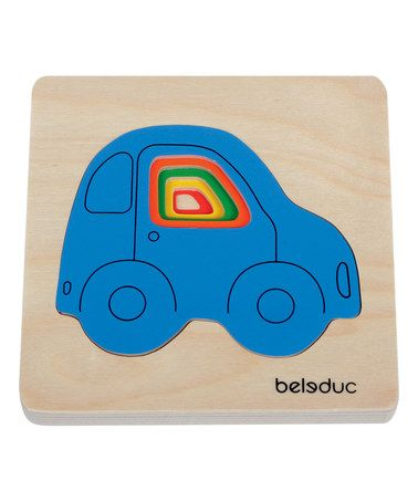 Look what I found on #zulily! Car Layered Puzzle #zulilyfinds