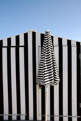 South Beach Miami in classic black and white stripes.