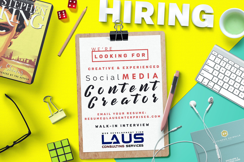 Job title content writer social media manager job