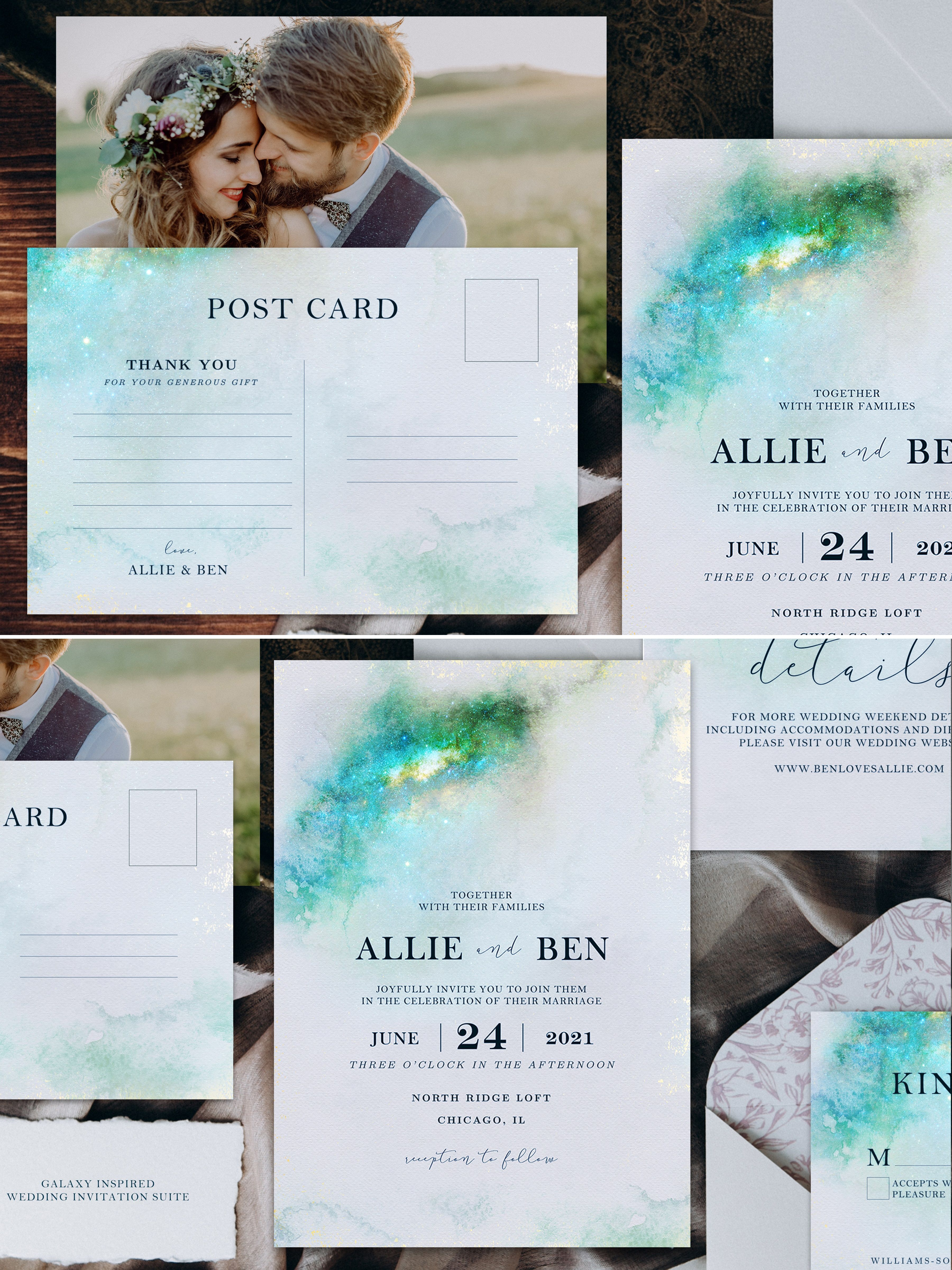 Galaxy Inspired Wedding Invitation Suite (Printable) | Invitation ...