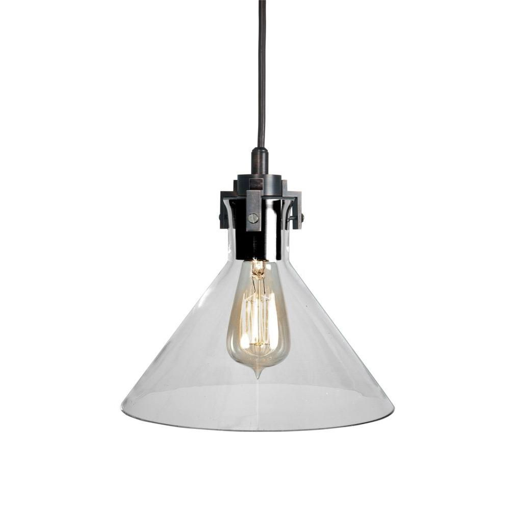 Home Depot Pendant Lights For Kitchen Home Decorators Collection 1Light Ceiling Clear Glass Funnel