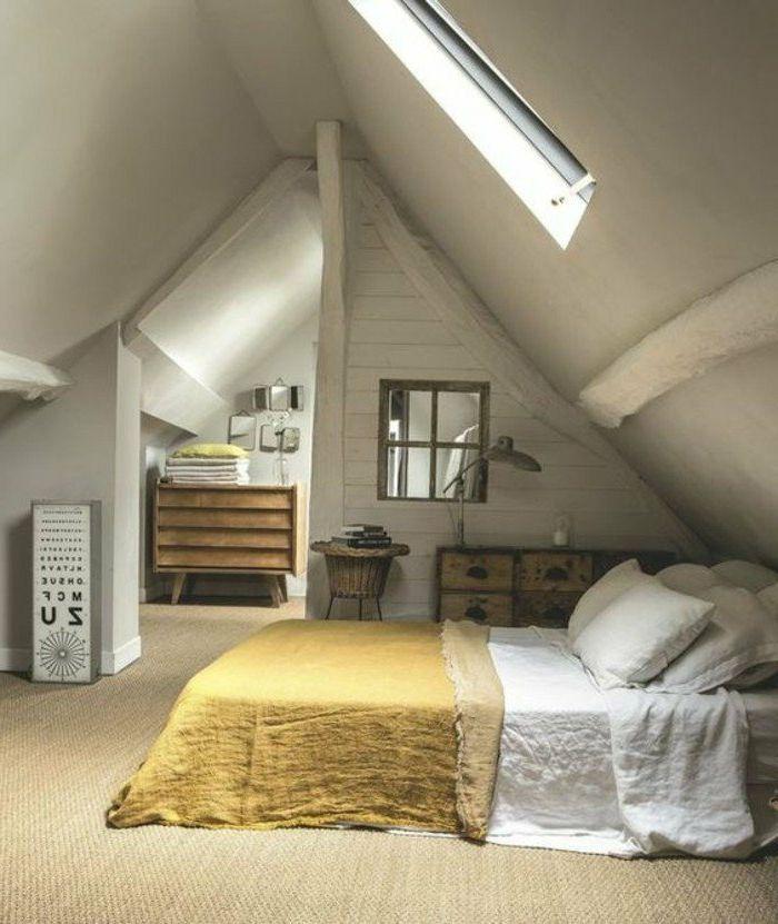 Decoracion de dormitorios estilo r stico manta amarilla - Rustico moderno decoracion ...
