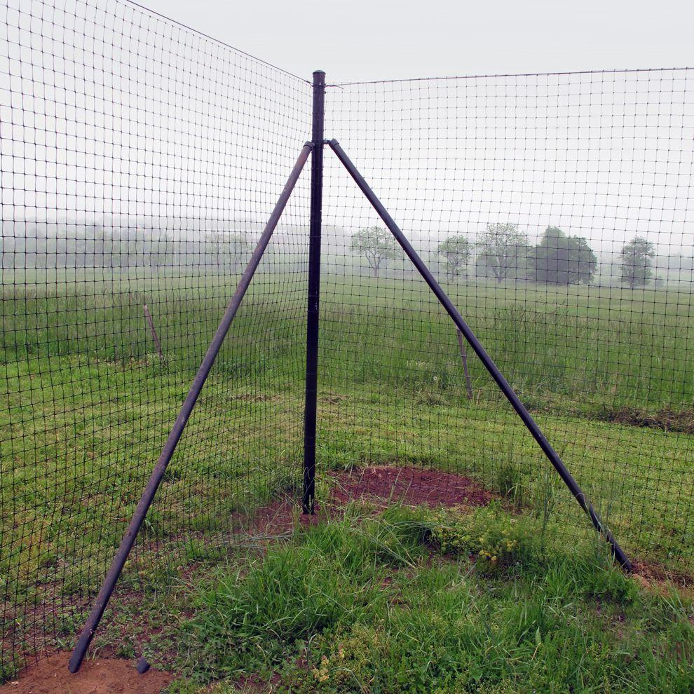 """Deer Fence White Warning Banner 1/"""" x 24/"""" 50 pk"""