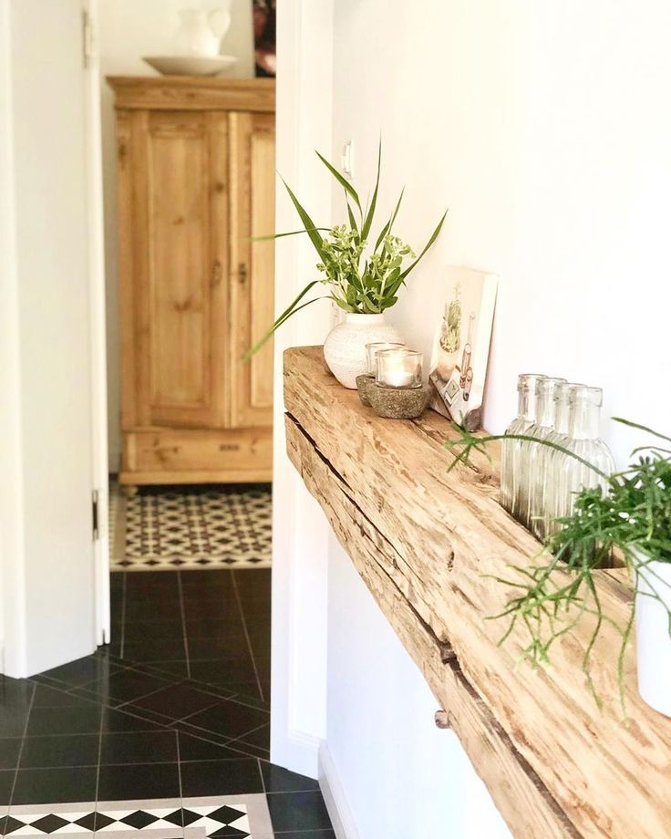 Flure Haus Deko Und Flur Design: #dekoration #regal #balken #flur #eingangsbereich