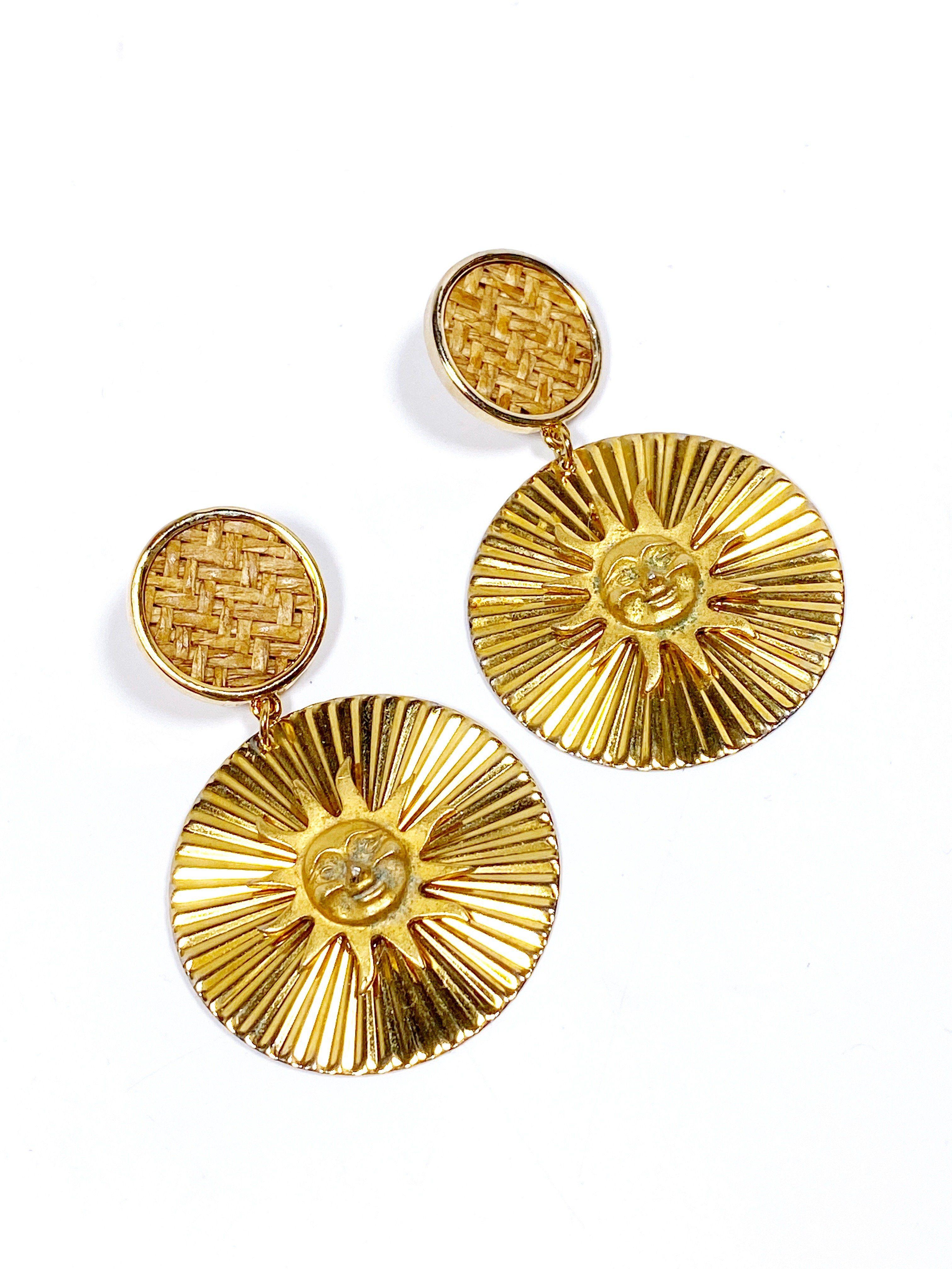 brass medallion Sun