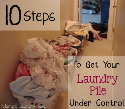 There are so many times in my life where I have been completely overwhelmed with laundry…and I just didn't know where to start.  Having a mountain of dirty laundry staring you in the face can be daunting.  Not to mention depressing. So how do you get started on such a task? Here are 10 steps …