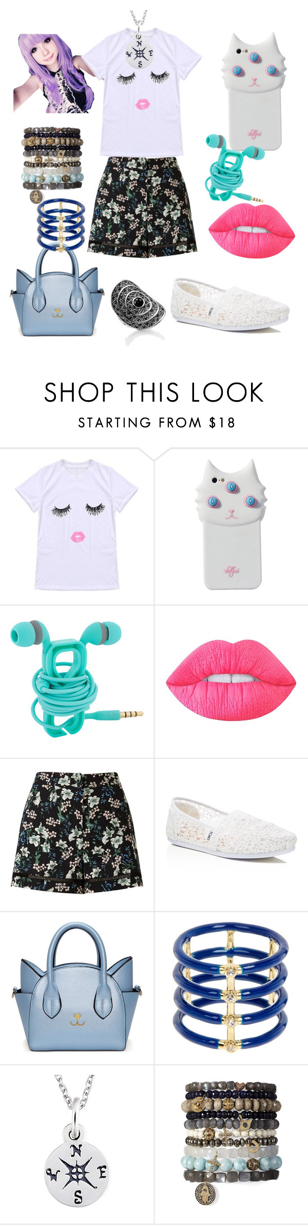 """""""Cute Collection"""" by louiseabunn ❤ liked on Polyvore featuring Valfré, Lime Crime, Miss Selfridge, TOMS, Elizabeth and James and Thomas Sabo"""