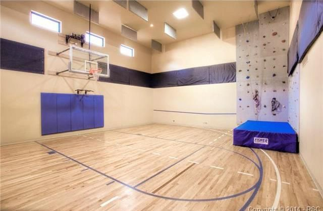 5 Home Gyms You Ll Wish Were Yours Home Basketball Court Basketball Room Indoor Basketball Court