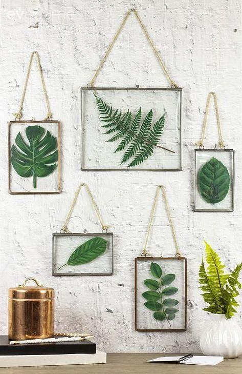 Duvar dekorasyon, Yeşil, Kendinyap, Botanik, çerçeve, çiçek kurutma