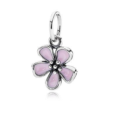 Pandora Cherry Blossom Pink Enamel Pandora Earrings Pandora Necklace Pandora Bracelet Charms