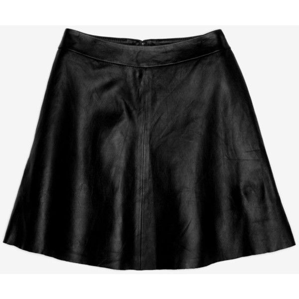 veda chateau flared leather skirt found on polyvore top