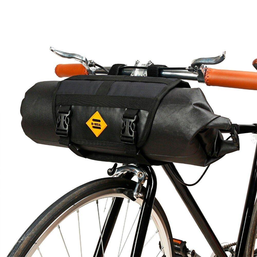 B SOUL MTB Road Bike Cycling Bicycle Triangle Tube Frame Bag Polyester Black M//L