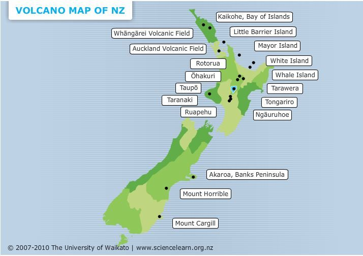 Show Map Of New Zealand.Volcano Map Of New Zealand Map Of New Zealand Volcano Map