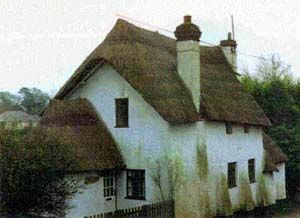 Traditional Cob House In Devon England Cob Building Cob House Thatched Roof