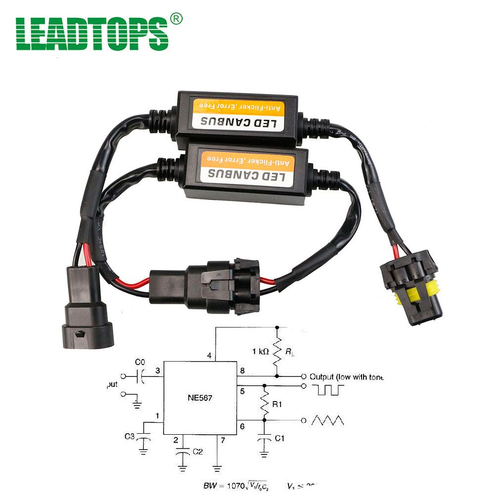 H4/H7/H8/H11/H13/HB3(9005)/HB4(9006) Canbus Wiring Harness Adapter LED Car  Headlight Bulb Auto Headlamp Fog Light CANBUS BE
