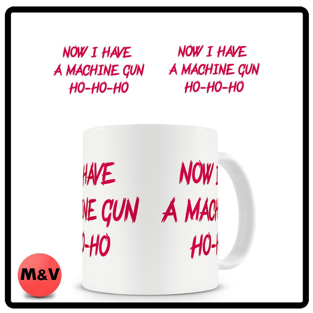 Die hard movie mug, bruce willis, christmas ho ho ho | Bruce willis ...