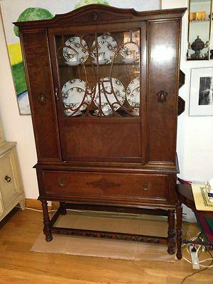Rockford Superior Furniture Co. China Cabinet Vintage Curio