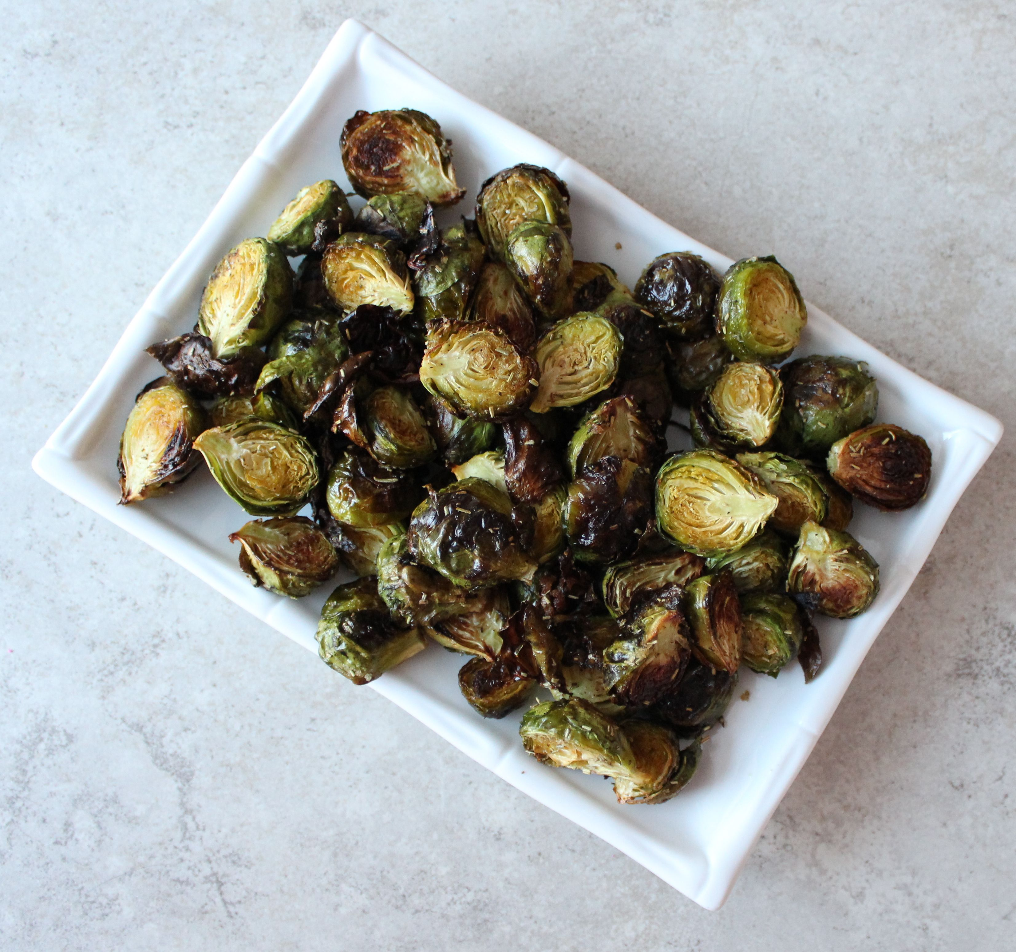 roasted brussels sprouts with fresh rosemary the salty kitchen