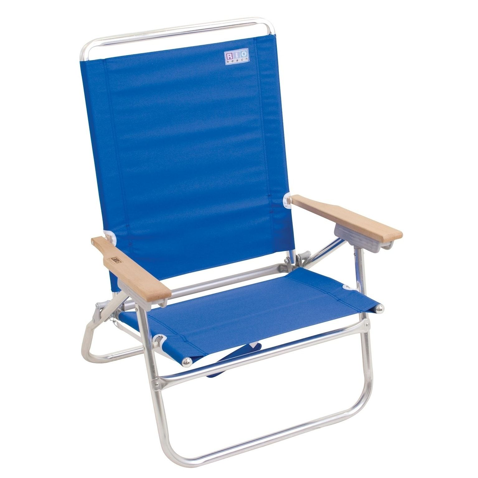 RIO Beach 4Position Easy InEasy Out Beach Chair Blue