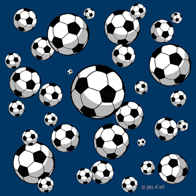 Soccer ball pattern navy blue background Flickr