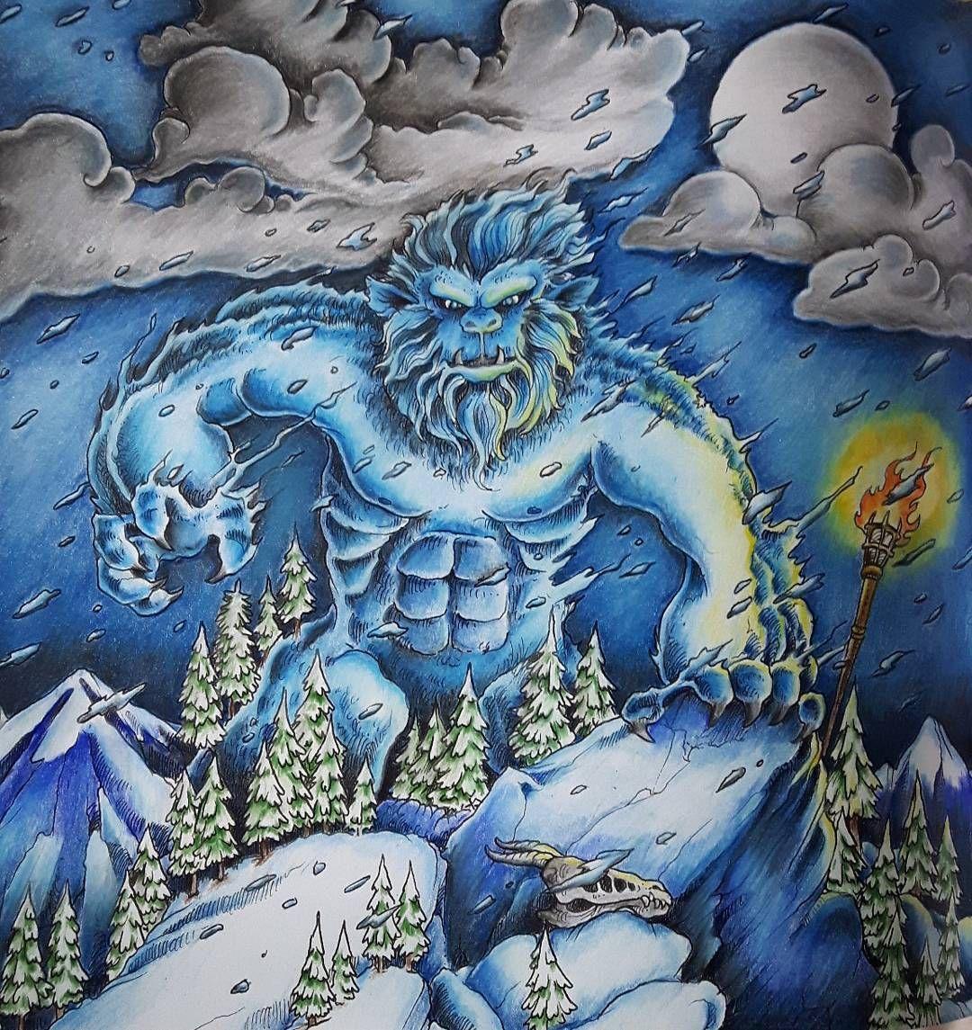 16 Likes 1 Comments Ren Ley Kayess85 On Instagram The Ice Man Rises Mythomorphia Kerbyrosanes Colouri Colorful Art Animorphia Coloring American Art