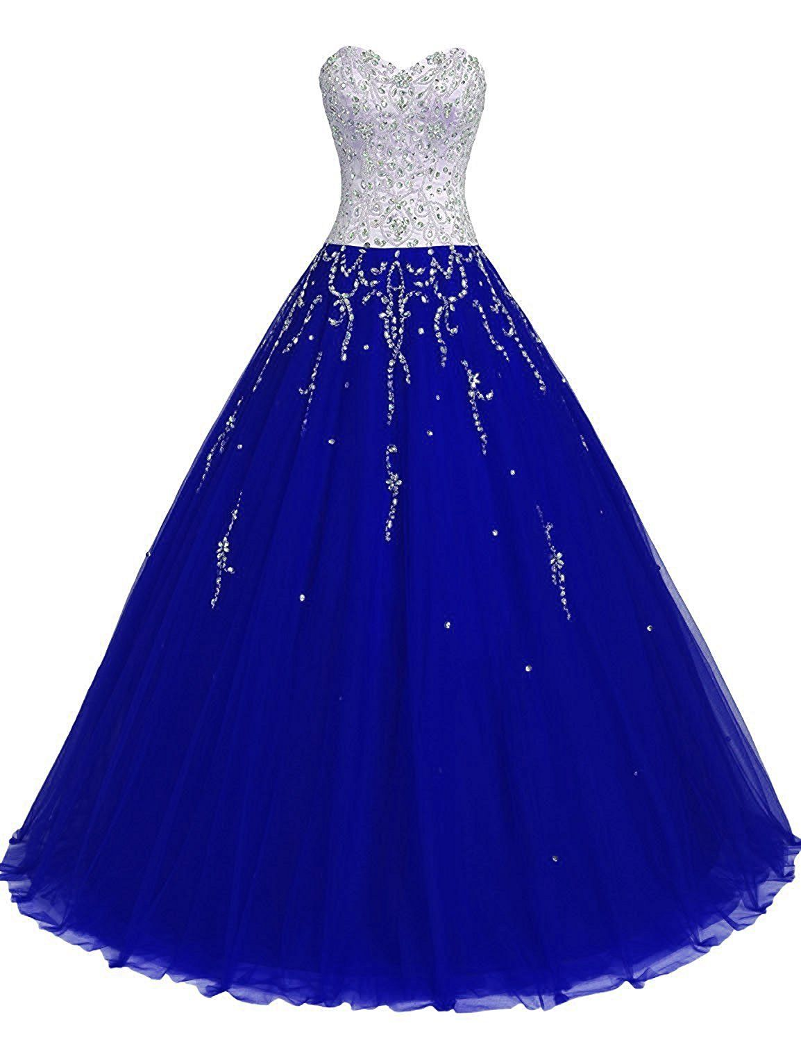 TrendProm Women\'s Prom Dresses Sweetheart Quinceanera Dresses Tulle ...