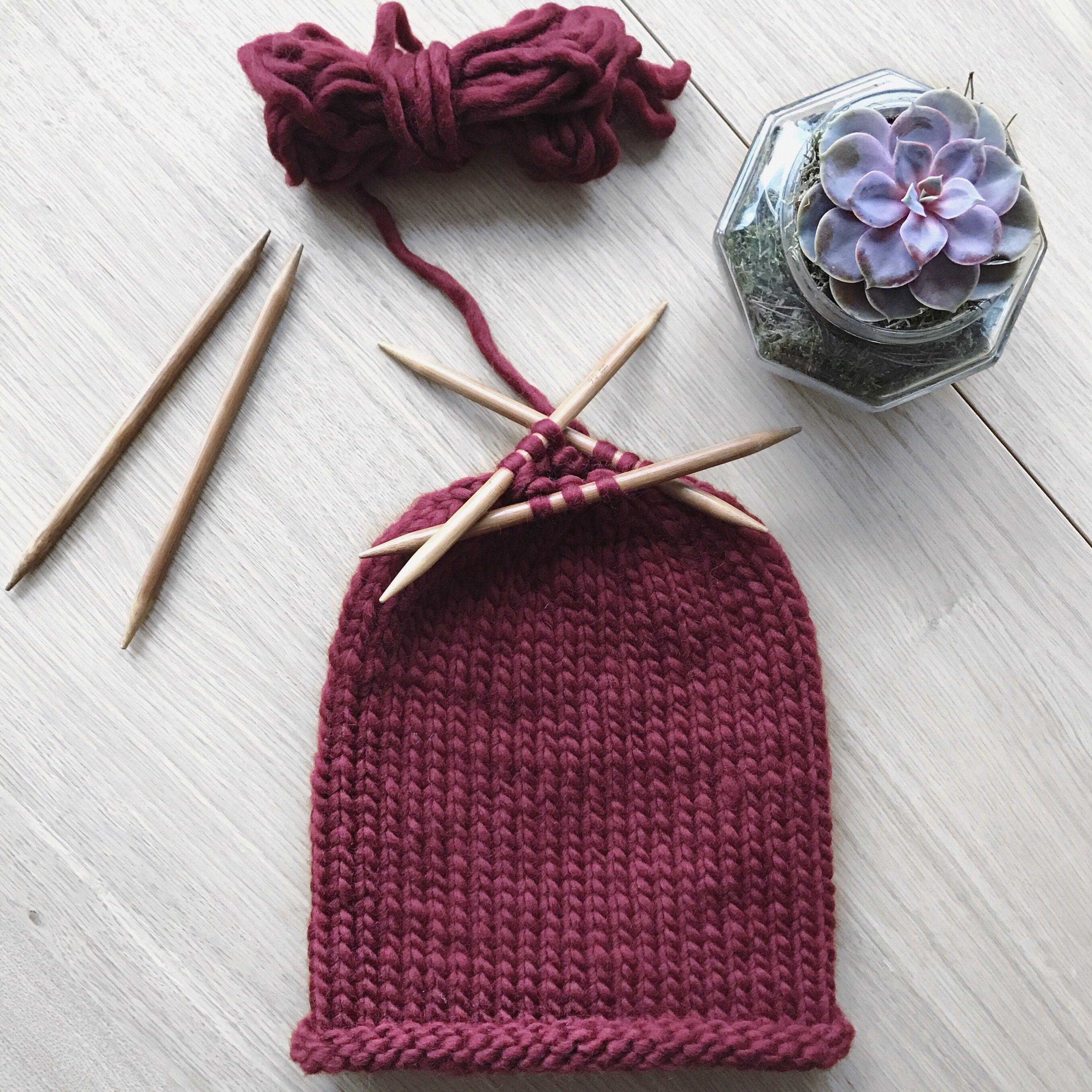 Knitted slouch beanie pattern | Yarn + | Pinterest