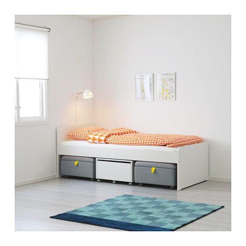 Slakt Rangement Sur Roulettes 62x62x35 Cm Ikea Bed Frame With Storage Bed Frame Bedroom Furniture