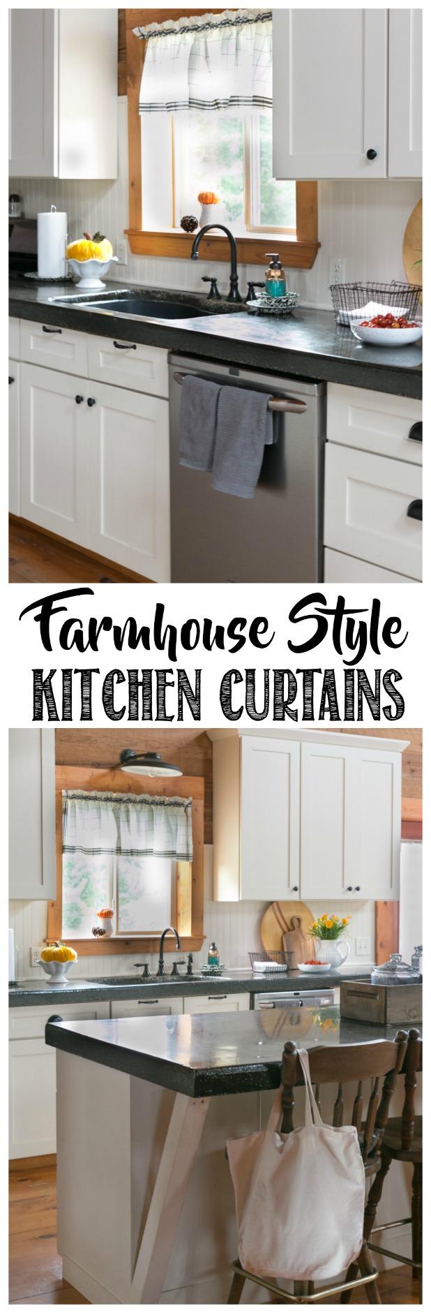 Farmhouse style kitchen curtain valance popular pin