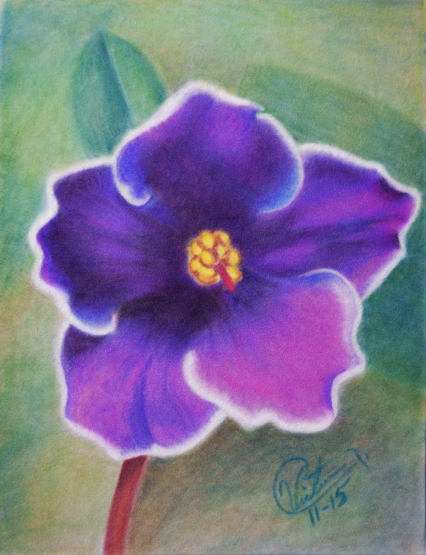 Como Dibujar Una Flor Con Tiza Paste Lapices Pastel Arte De Tiza En Colores Pastel Arte De Tiza Tiza En Colores Pastel