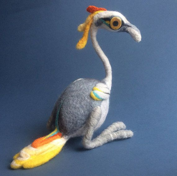 Bird needle felted Soft sculpture MADE TO ORDER Wool fledgeling ...