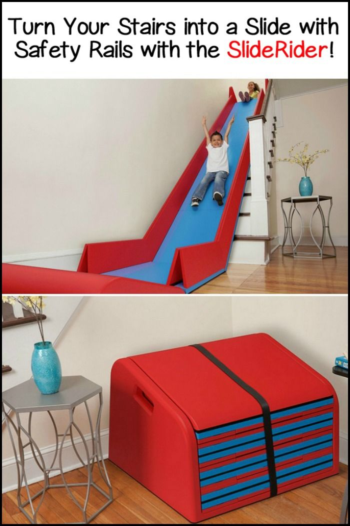 Beau Turn Your Stairs Into A Slide Complete With Safety Rails With The  SlideRider!