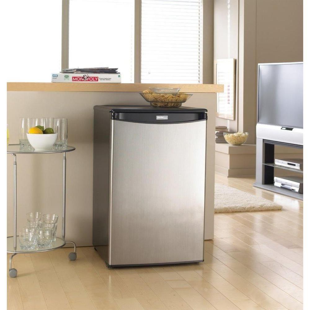 Danby 44 cu ft mini all fridge in stainless steel