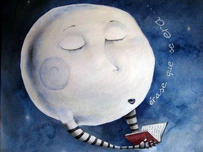 leo por la noche con la luna