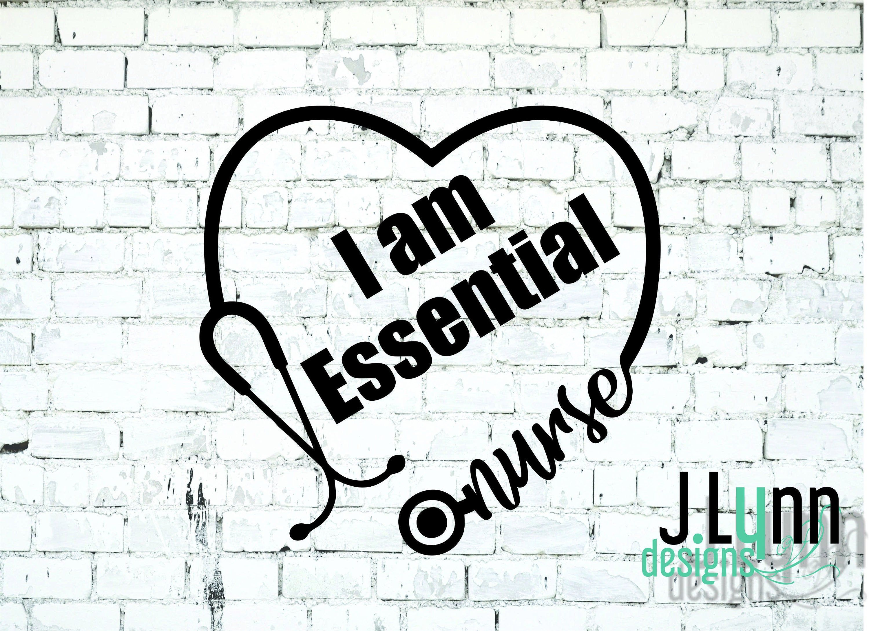 I Am Essential Nurse Stethoscope Heart Car Sticker Essential Etsy Custom Decals Nurse Stickers Nurse Decals [ 2181 x 3000 Pixel ]