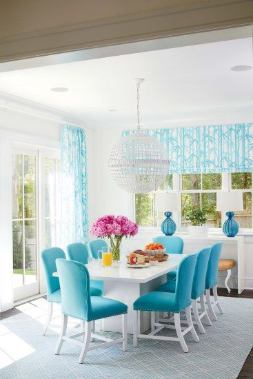 5 Things You Need To Know When Choosing Beach House Windows And Doors Turquoise Dining Room Blue Dining Room Chairs Dining Room Blue