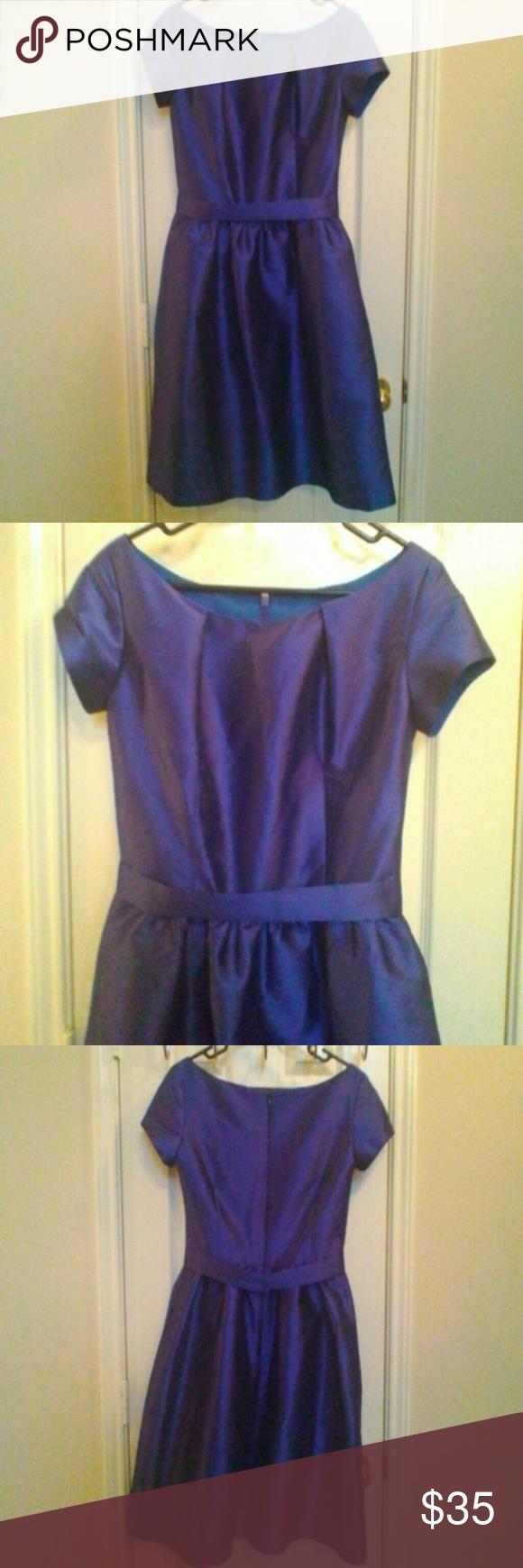 Nwt Bridesmaid dress Blue mikado silk bridesmaid dress Alfred sung ...