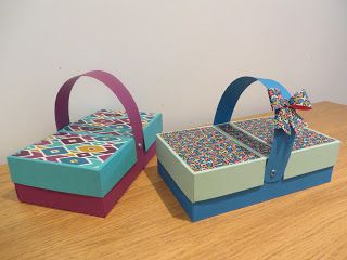 CraftyCarolineCreates: Picnic Style Double Flap Box Tutorial, Handmade Box Idea