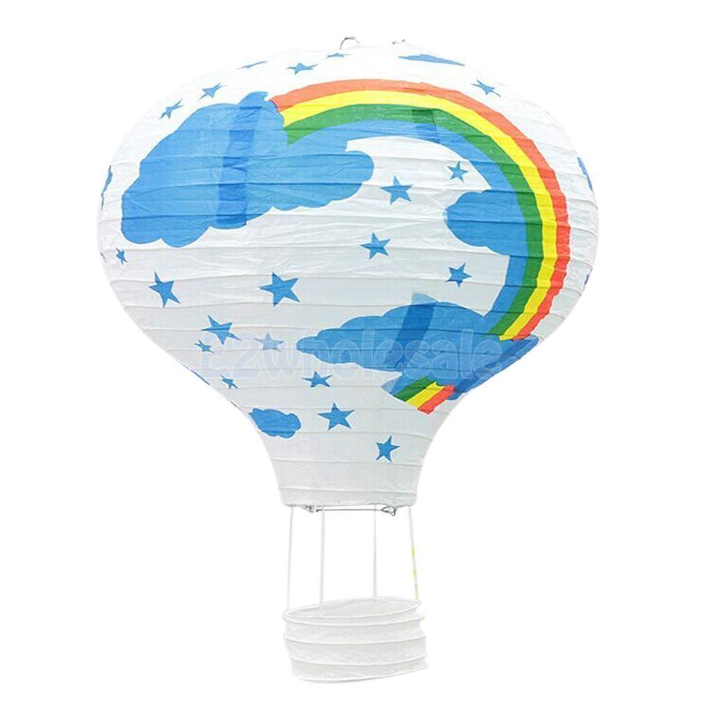 Blue Paper Lantern Bedroom Fun Lamp Rainbow Balloon Light Shade