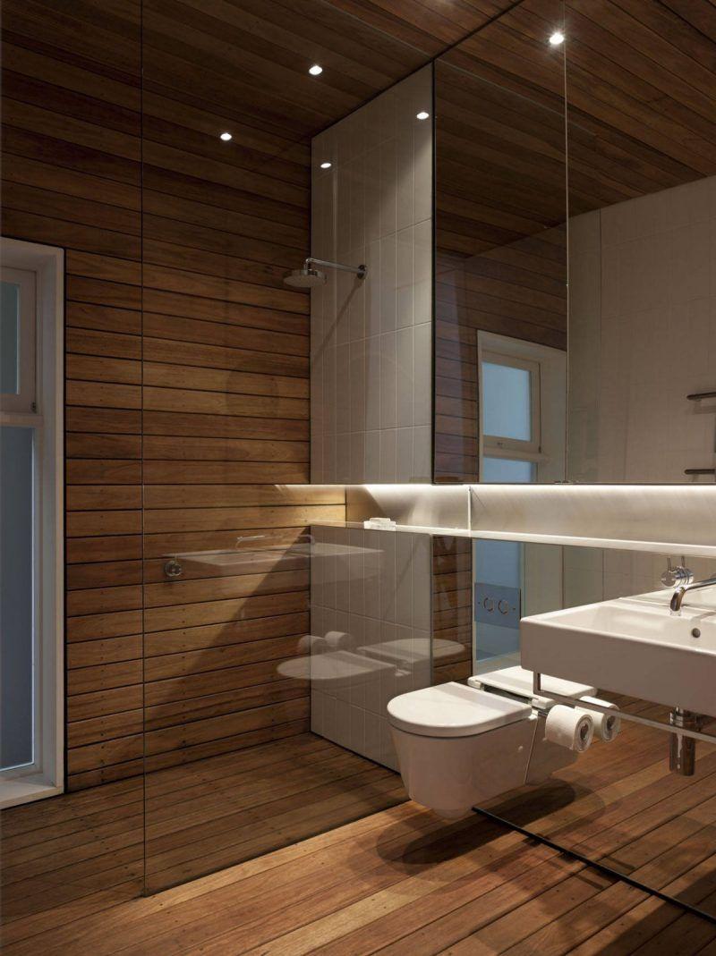 Badezimmer Holz Wandverkleidung